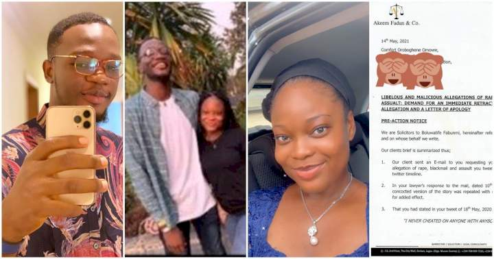 Twitter influencer, Tife Fabunmi sues his ex-girlfriend, Sansa a year after she accused him of r@pe