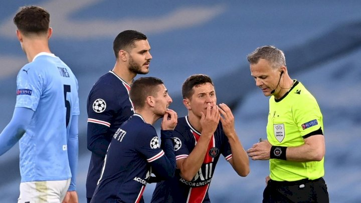 UCL: What referee told us during 2-0 loss to Man City - PSG players