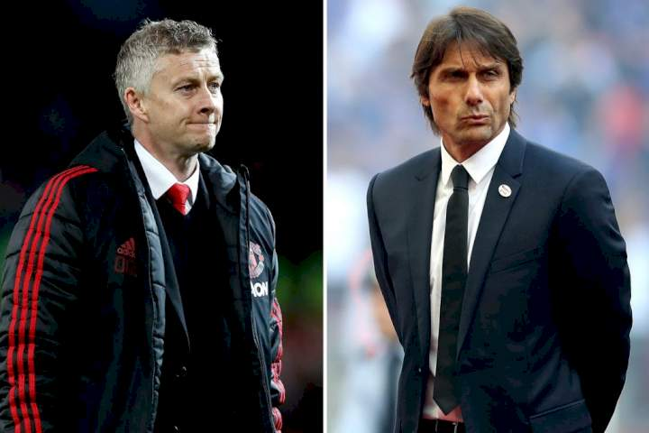 EPL: Why Conte will not replace Solskjaer at Man Utd