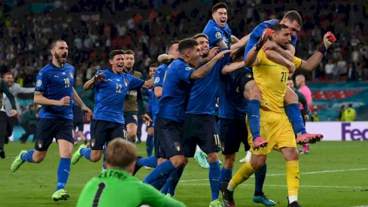 Euro 2020: Italy defeat England on penalties to win trophy