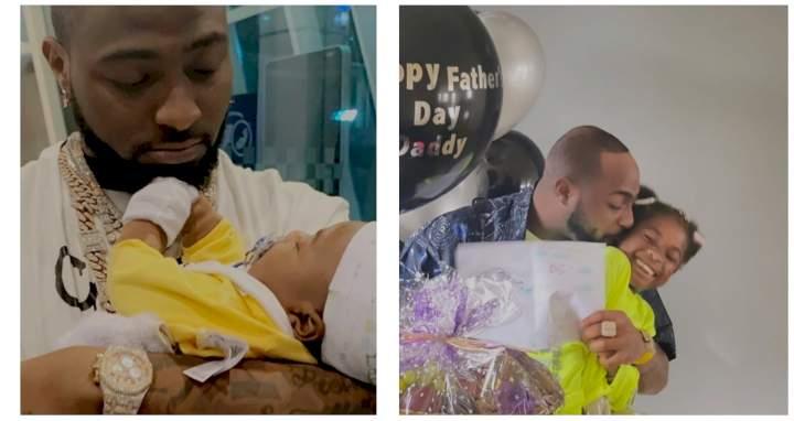 "Davido refers to himself as ""Papa Ify"" as he celebrates father's day (Photo)"