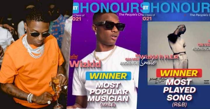 Net Honours 2021: Wizkid bags award for 'Most Popular Male Musician' & 'Most Played Song'