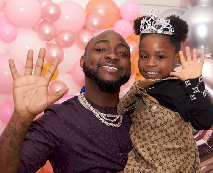 """I'm finished today"" – Davido says as he shows off pictures of what his daughter, Imade, and her gang did to his house"