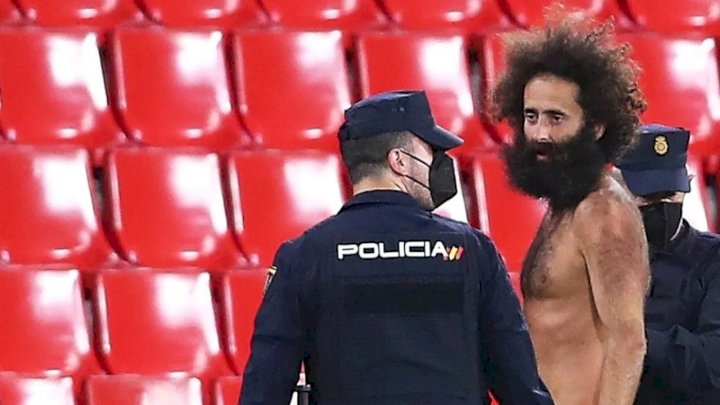 Europa League: Police give update on naked man who ran to the field during Granada vs Man United