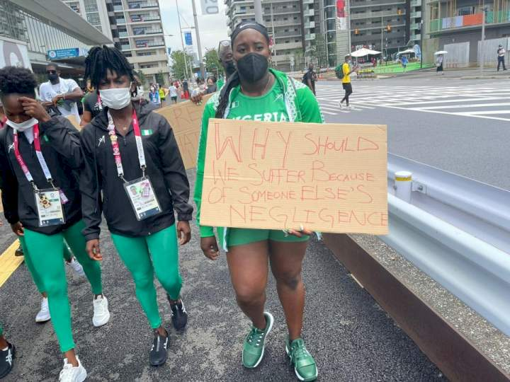 Tokyo Olympics: Banned Nigerian athletes protest in Japan