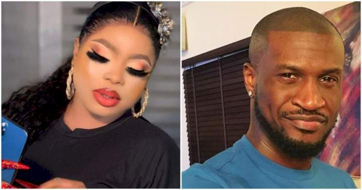 Bobrisky reacts as Peter of Psquare throws subtle shade at his brother, Paul Okoye