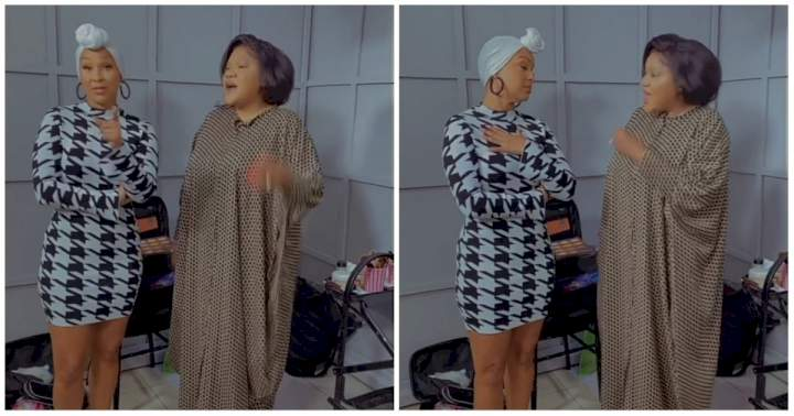 """""""They are the best and they don't cheat"""" - Toyin Abraham hypes Nigerian men to American actress, LisaRaye McCoy (Video)"""