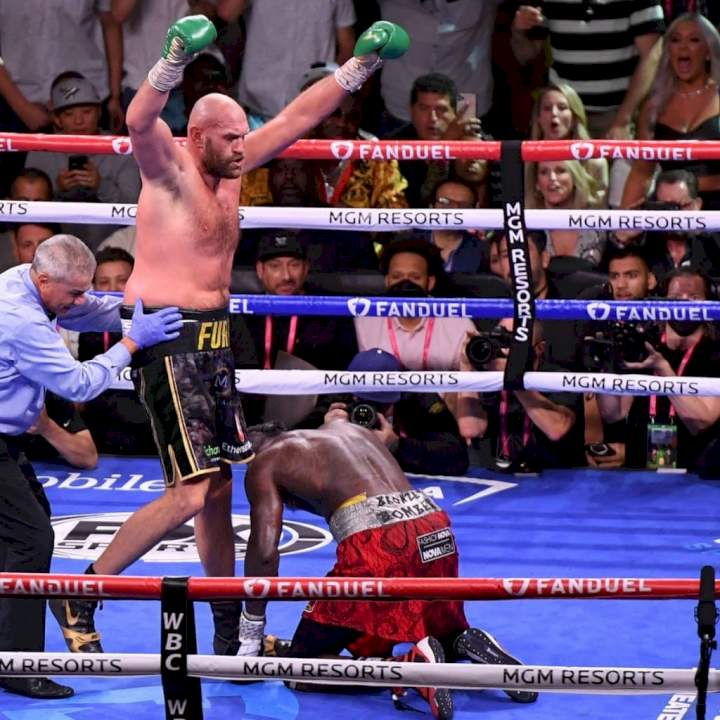 Tyson Fury knocks out Deontay Wilder after five knockdowns