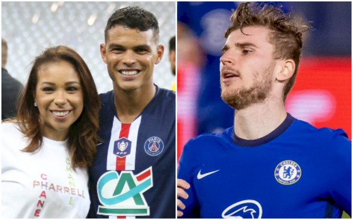 UCL: Thiago Silva's wife, Isabelle attacks Timo Werner over missed chance in Chelsea draw with Real Madrid (Video)