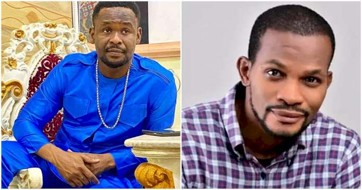 """""""Richest actor spiritually wey no get house for Abuja or Lagos"""" - Uche Maduagwu shades actor, Zubby Micheal"""