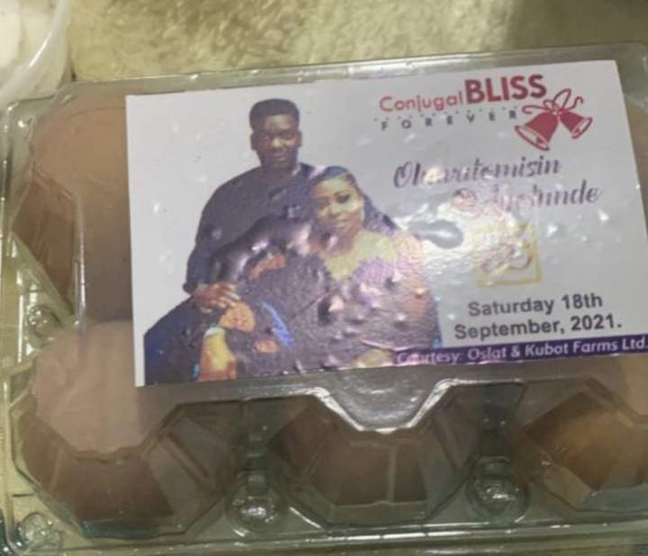 Netizen in awe after receiving a crate of eggs as souvenir at a wedding ceremony