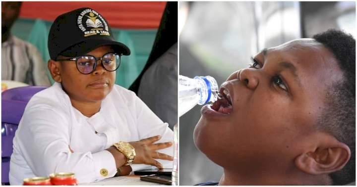 """New meme loading"" - Reactions as Osita Iheme ""Pawpaw"" shares photo of himself drinking water"
