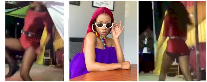 Moment Ugandan singer, Vinka, stomped a fan who tried to pull up her cloth (Video)