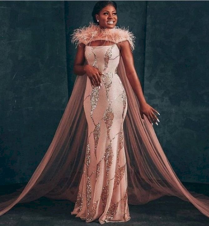 Bride appreciates BBNaija star, Alex Unusual for inspiring her wedding dress