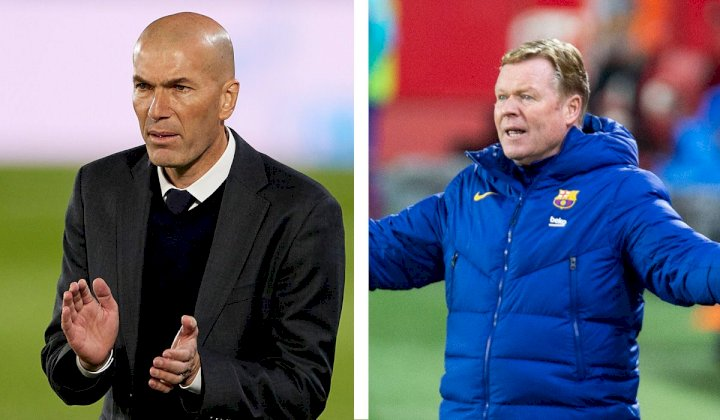 El Clasico: Zidane clashes with Koeman as referee refuses to give late penalty to Barcelona