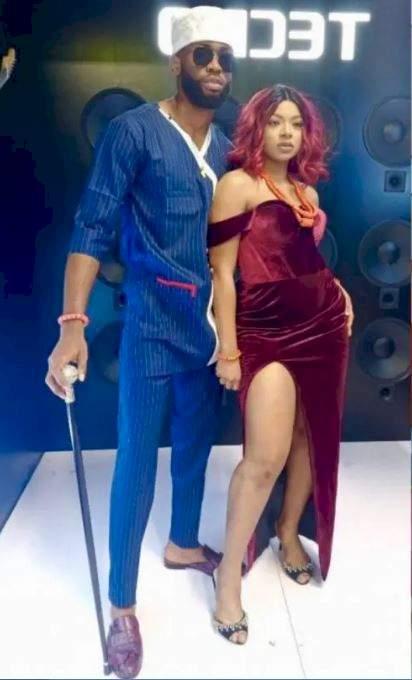 BBNaija: Moment Emmanuel and Liquorose lip-lock passionately during the Saturday night party (Video)