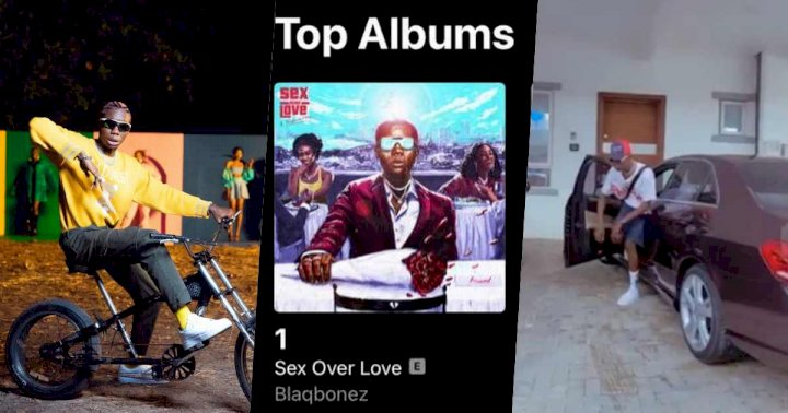 Blaqbonez gifts himself a brand new Benz as his album hits no. 1 in Nigeria