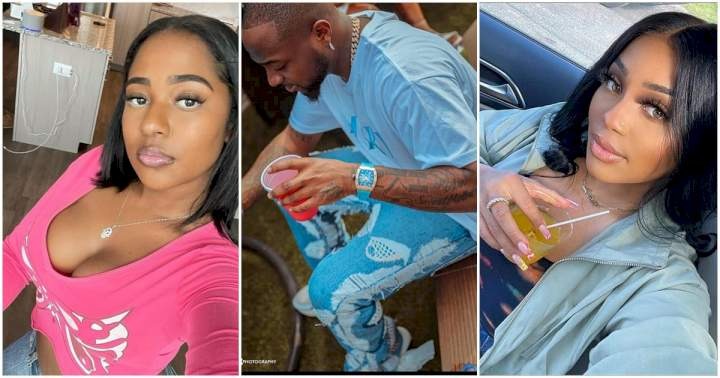 """May we not come across such in-laws"" - Netizens drag Davido's cousin for her comment on Mya Yafai's page"