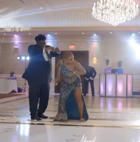 Groomsman and bridesmaid steal show with dance moves at wedding party (Video)