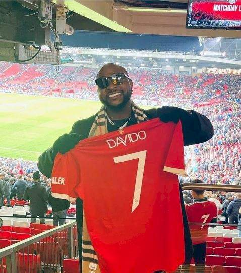 Moment Davido meets Man U star, Paul Pogba after game against Atlanta (Video)