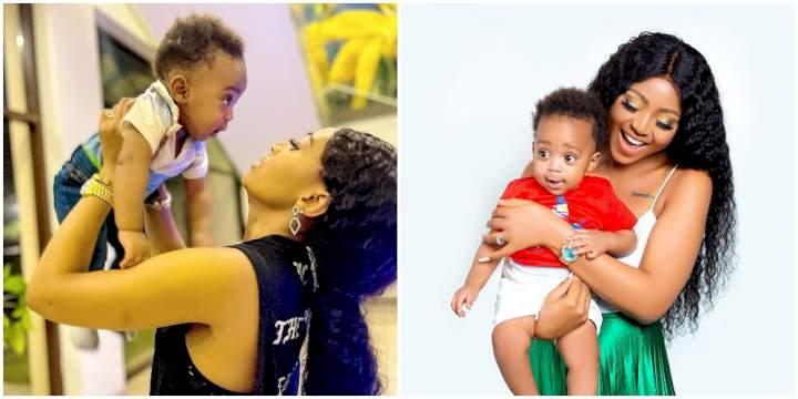 Regina Daniels shares excitement as her son, Munir Nwoko indirectly reveals his career