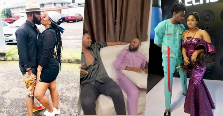 #BBNaija: Boma and Tega's husband spotted hanging out together (Video)