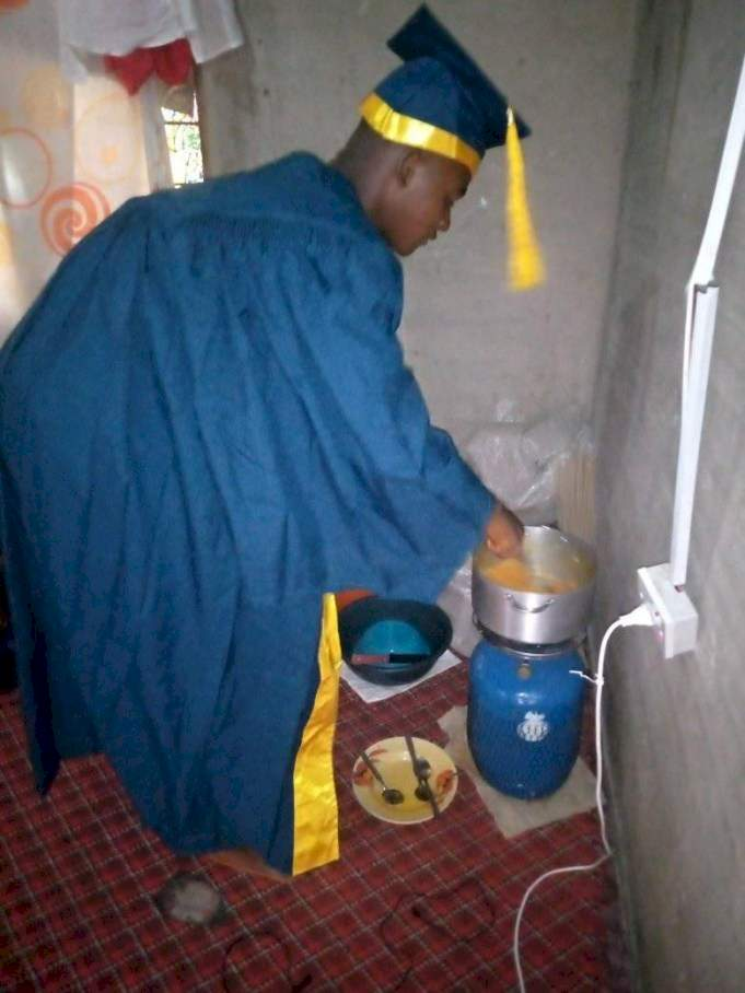 Taraba university students cook and sleep in matric gowns to fully enjoy N1k rental fee