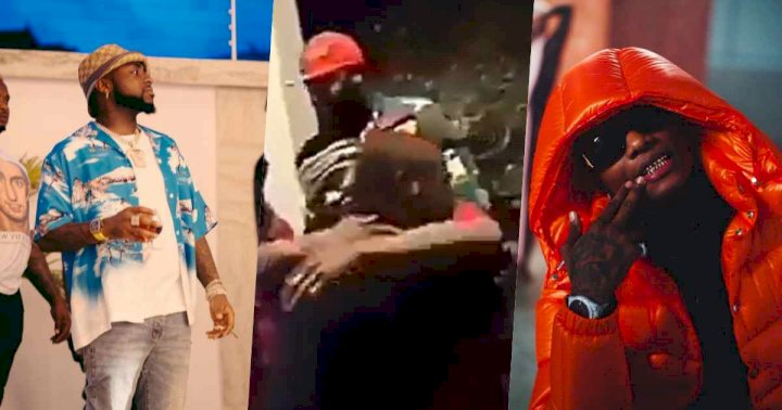 Fans dig up throwback video of Davido and Wizkid hugging, pleads for their beef to end
