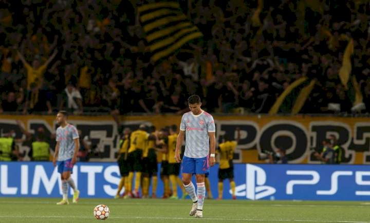 Champions League: Man Utd suffer shock defeat to Young Boys