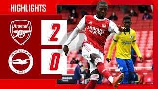 Video: Arsenal 2 - 0 Brighton (May-23-2021) Premier League Highlights