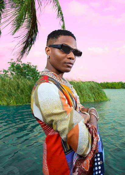 Moment fan lands Wizkid on the floor during performance (Video)
