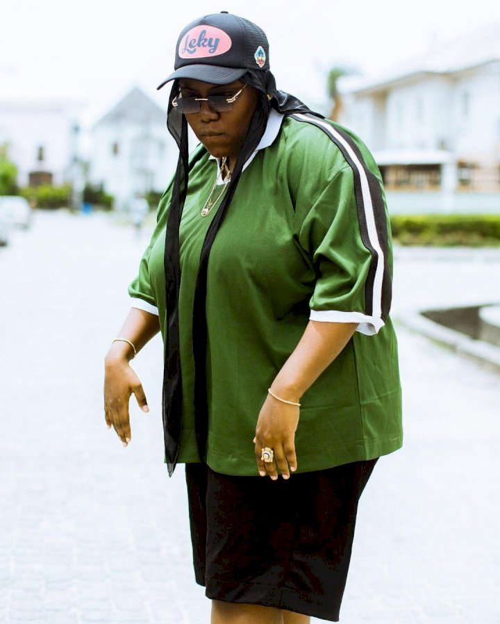 """""""Please keep dressing like a woman you look beautiful here"""" – Reactions as singer, Teni shares throwback photo clad in girly outfit"""