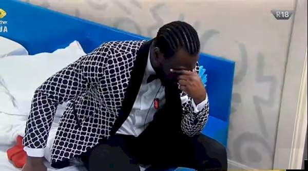 BBNaija: Pere in deep thought after denying feelings, snubbed by Maria at Saturday party (Video)