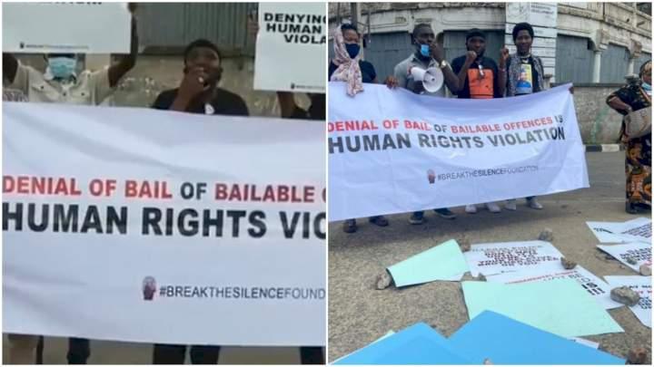Yomi Fabiyi leads protest, calls for Baba Ijesha's bail