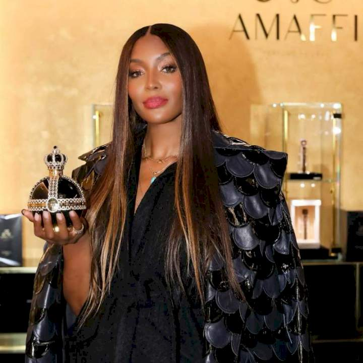 """""""Na Wizkid get the pikin"""" - Reactions as Naomi Campbell welcomes first child at 50"""