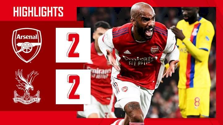 Arsenal 2 - 2 Crystal Palace (Oct-18-2021) Premier League Highlights