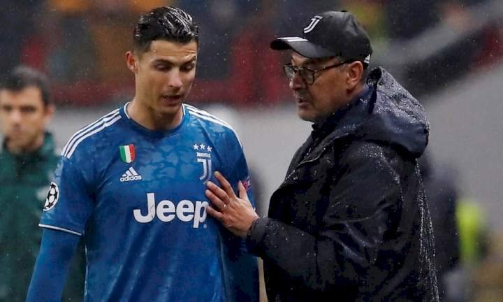 Cristiano Ronaldo is difficult to manage - Former Juventus boss, Sarri