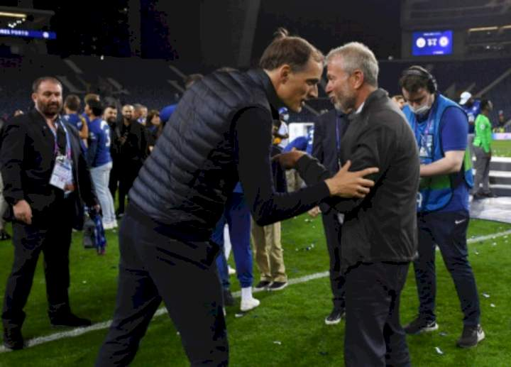UCL final: Tuchel discusses his future, makes promise to Abramovich after Chelsea win over Man City