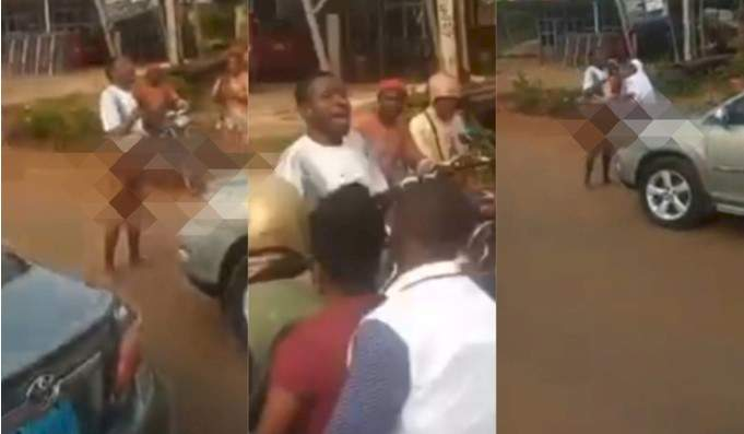 Young man loses his senses after alighting from his expensive car (Video)