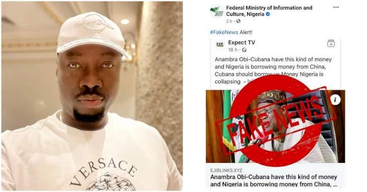 Federal Govt of Nigeria denies asking Obi Cubana for loan