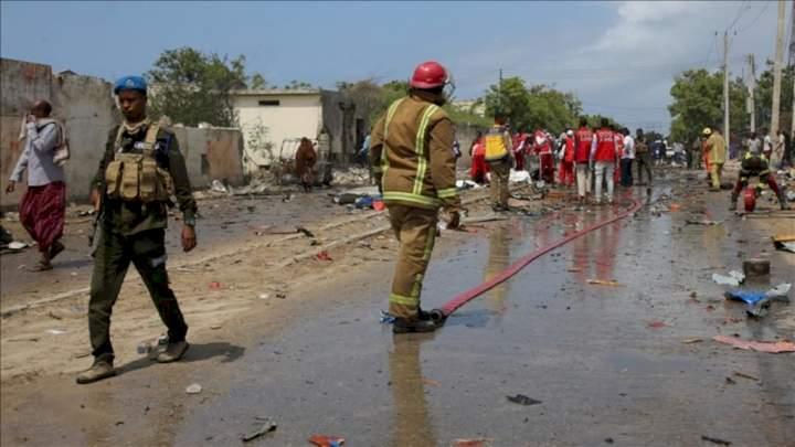 Bomb blast kills four footballers, injures five others