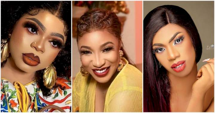 """""""Bob will come for you"""" - Reactions as Tonto dumps Bobrisky for her new friendship with James Brown"""