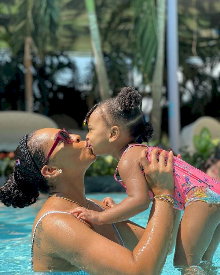 """""""I bled for 4 months, got electrocuted in the shower"""" - BBNaija's TBoss shares pregnancy story in celebration of daughter's birthday"""