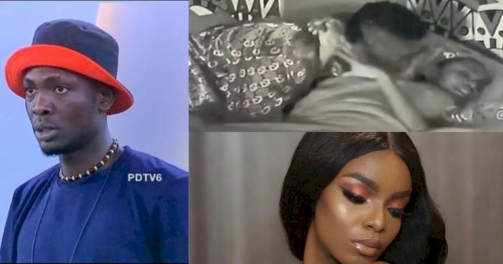 """BBNaija: """"I don't want"""" - Peace shuns Sammie as he tries to kiss her before retiring to bed (Video)"""