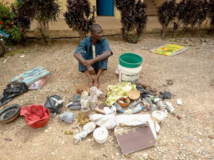 Suspected ritualist arrested with human skull in Osun (Photos)