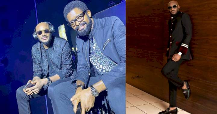 """""""My baby, my love, my sweetheart"""" - Basketmouth sparks reactions with his birthday message to Tuface Idibia"""