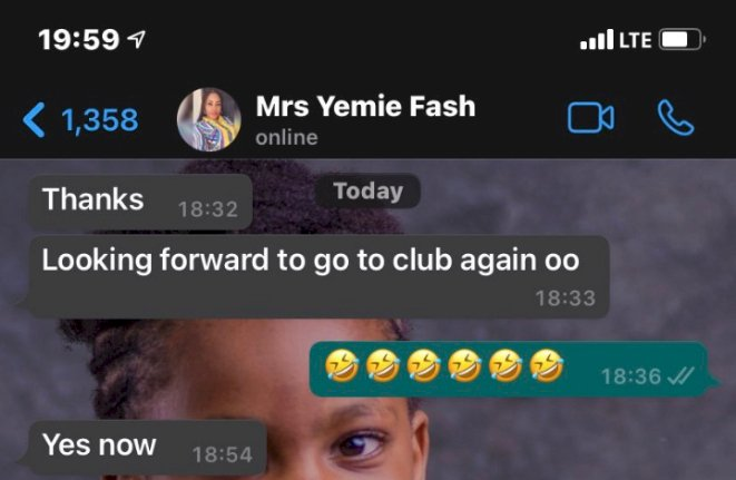 Man shares chat with his wife after taking her to club for the first time