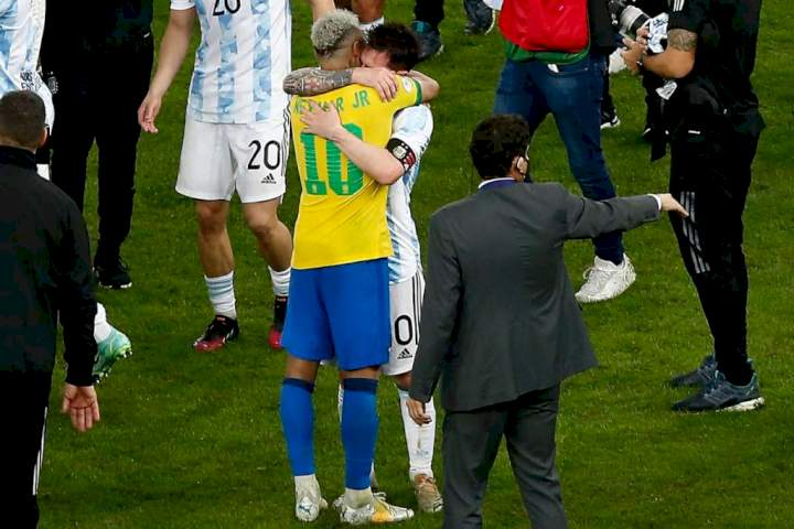 Copa America final: What Messi did to Neymar after Argentina won trophy