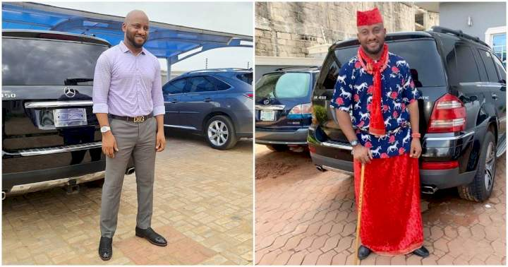 Yul Edochie reveals chat from fan blaming him for ruining their TV's audio with his deep voice