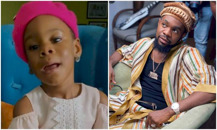 Watch as Patoranking's daughter, Wilmer, sings birthday song for him (Video)